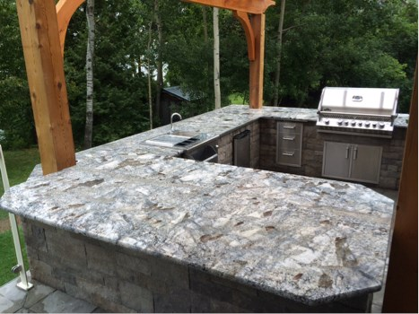 """Arara Blue"" 3cm Granite For An Outdoor Kitchen"