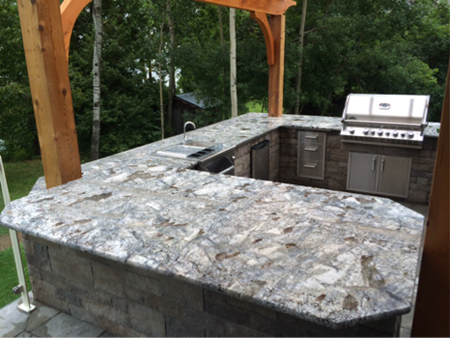 """Arara Blue"" 3cm Granite For An Outdoor Kitchen 1235 ""arara blue"" 3cm granite for an outdoor kitchen"