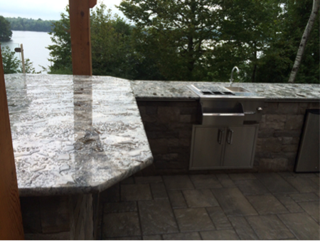 """Arara Blue"" 3cm Granite For An Outdoor Kitchen 1235 ""arara blue"" 3cm granite for an outdoor kitchen1"