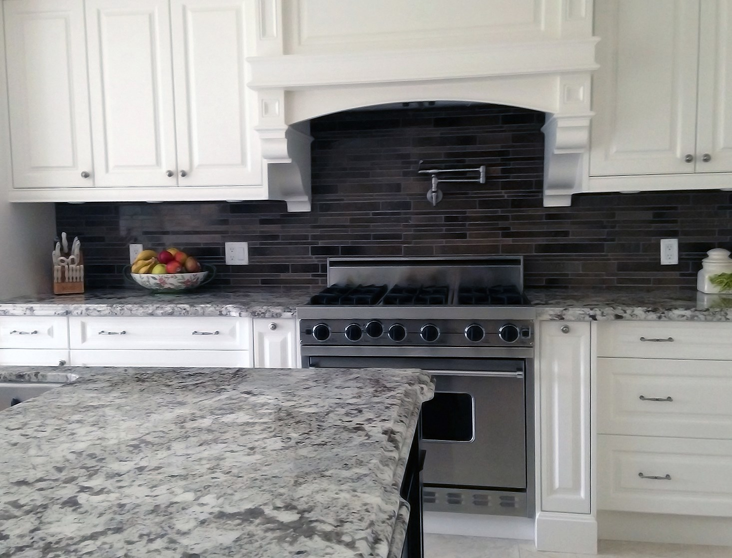 Renovated Rustic Kitchen with Granite Countertop finished kitchen granite countertop