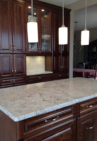 Our Updated Kitchen with a Granite Countertop Highlight. fantastic white kitchen