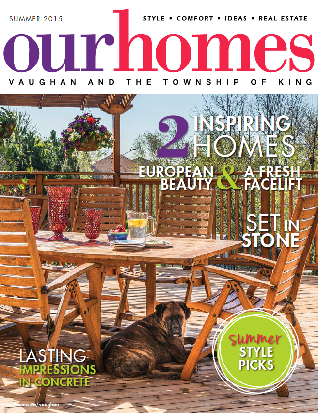 Interstone Marble & Granite Inc. mentioned in Our Homes Summer 2015 edition!